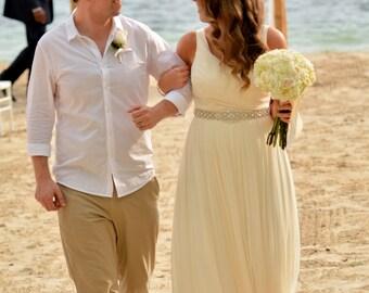 Beach Wedding Bridal Belt, Coastal Wedding Belt, Sash Belt, Bridal Belt, Sash Belt, Wedding Dress Sash, Crystal Rhinestone Belt, Style 159