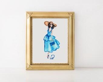 Fashion sketch, Fashion portrait, Watercolor portrait, Fashion illustration, Fashion art, Fashion print, Fashion painting, Fashion