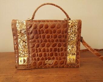Vintage Crocodile Purse Bag