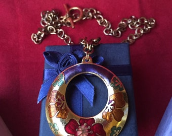 Winter's Bloom Pendant Necklace Chinese New Year Asian