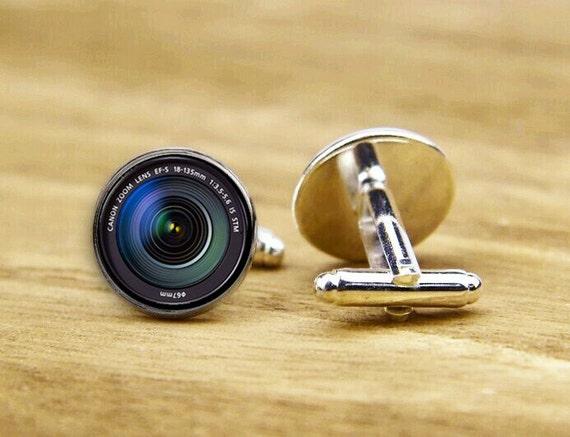DSLR Lenses Cufflink, DSLR Cufflinks, Tie Tack, Lens Jewelry, Camera Lens Cufflinks, Custom Wedding Cufflinks, Personalized Cufflinks, Lens