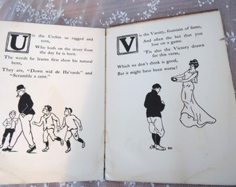 A Harvard Alphabet Hardcover Childrens Book 1902 All Things Harvard Rare Collegiate Collectible Academia for Children Nursery Room Decor