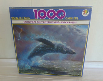 "New Vintage 1991 Casse-tete 1000 Piece Jigsaw Puzzle  ""Whale of a Storm""  Sealed"