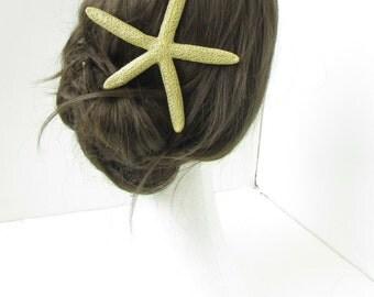 Gold Starfish Hair Clip Mermaid Beach Sea Star Fish Costume Fancy Dress Ariel 66