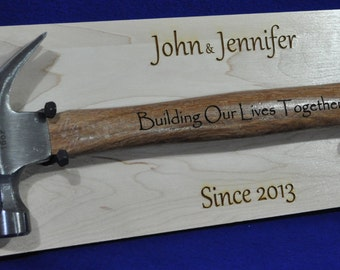 Wedding Gift For Couple ~ Engraved Wedding Gift ~ Engraved Hammer ~ Engraved Gifts ~ Anniversary Gifts ~ Bridal Shower Gift ~ Wedding Gifts