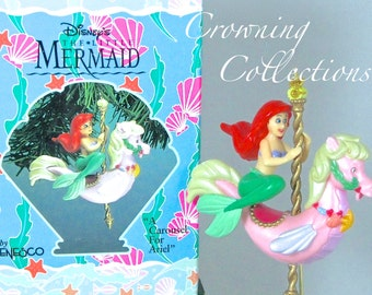 Enesco A Carousel for Ariel Ornament The Little Mermaid Disney Stormy Seahorse Christmas Vintage Sea Horse Princess