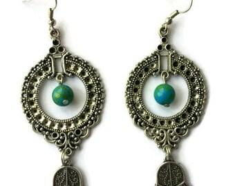 Boho Silver Earrings - Boho Earrings - Silver Earrings - Silver Earrings Dangle - Long Silver Earrings - Long Earrings - Dangle Earrings