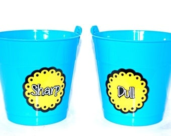 SALE!! Sharp/Dull Pencil Buckets