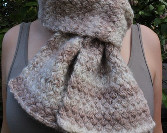Tiny Cables Knitted Scarf