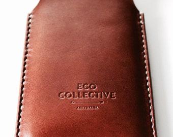 iPhone 6 case/sleeve leather brown handmade in Australia