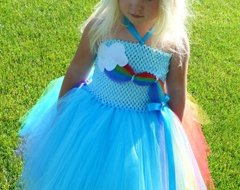 Rainbow Dash Inspired Tutu Dress, Rainbow Dash costume, Rainbow Tutu Dress, Rainbow Tutu, My Little Pony Tutu Dress, Rainbow Dress,