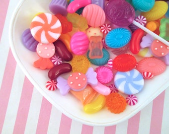 Assorted Candy Cabochons, Cute Sweets Cabs Pick Your Amount
