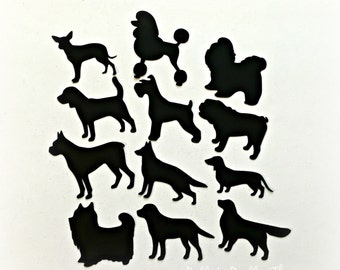 Dog Die Cuts, Dog Silhouettes