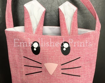 Personalized Burlap Easter Bag