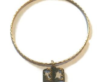 Bible Charm Bracelet - Bible Charm Bangle - Bible Bracelet - Bible Bangle - Bible Jewelry - Gold Jewelry - Stacking Bangles