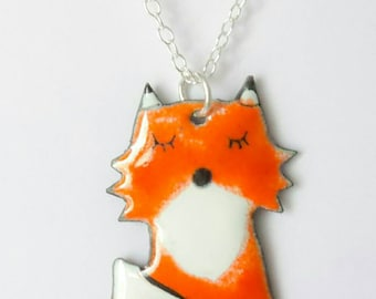 Necklace mid-length little Fox