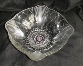 1930's Art Deco Glass Serving Bowl