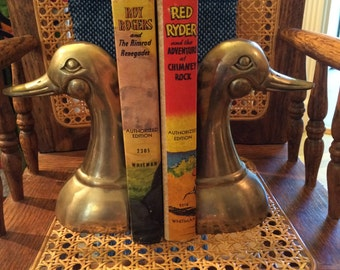 NEW ITEM: Brass Duck Bookends