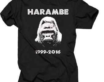 Harambe Gorilla T-shirt Harambe Shirt Gorilla T-shirt