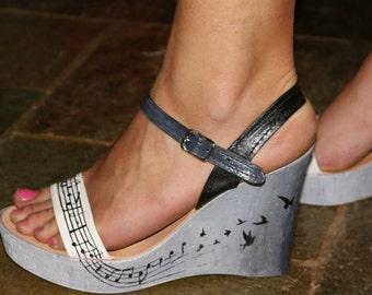 wedges, women's shoes, sandals, summer shoes, summer wedges, wedge heels