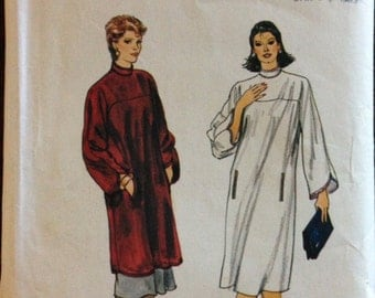 Vogue 8416 - 1980s Pullover A Line Dress or Tunic and Pull On Straight Skit - Size 12 14