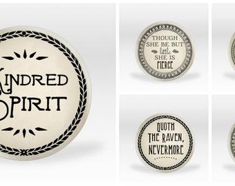 Fandom Buttons Series #5: Literary Classics