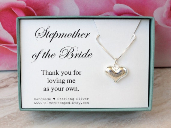 Wedding Gift For Stepmom : gift sterling silver necklace Thank you gift for stepmom - Wedding ...