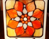 Handmade Stained Glass Mandala Art