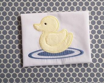 Baby Applique Machine Embroidery Design Duck