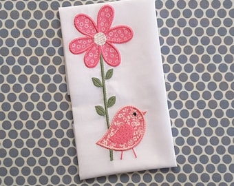 Baby Applique Machine Embroidery Design Birds