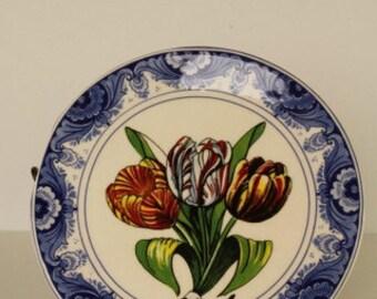 Dutch Delft Tulip Plate