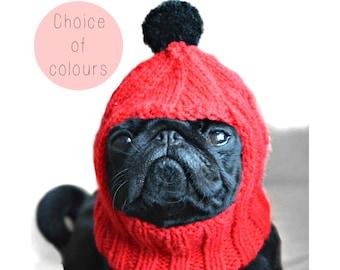 Pug Balaclava Knitting Pattern : Items similar to Puppy Love Dog Hat - Custom Pet Clothing ...