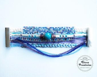 Luna # Blue candy... Cuff Bracelet // Brasilian  Style