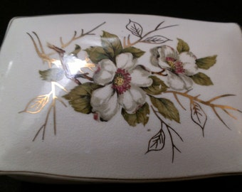 Dogwood Trinket Box, Jewelry Box, Accent Piece (469)