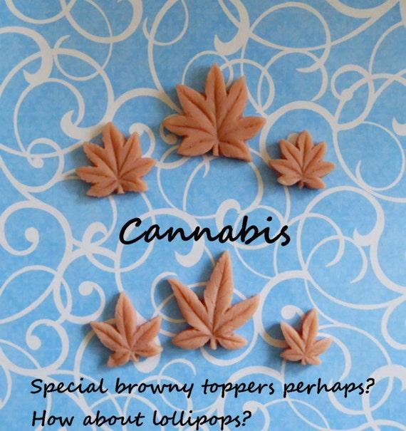 Marijuana Cannabis Weed Leaf Silicone Mold Cake Tool Fondant