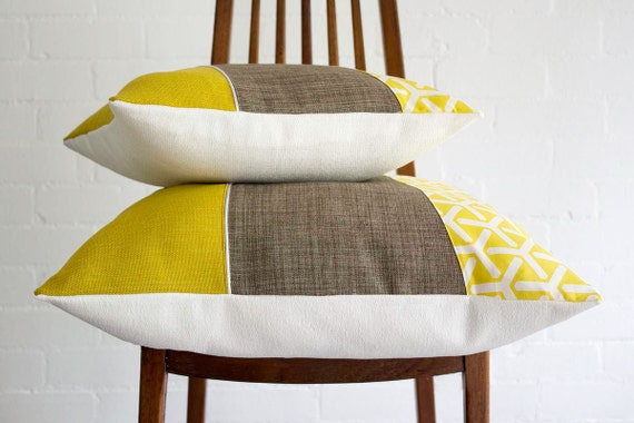 Mid Century Style Throw Pillows : Mid-century modern style throw pillow cushion by littlecrowdesign