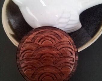 Blackwood engraved brooch