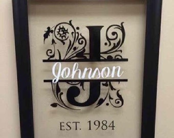 Custom Decal Sticker-Last Name and Year Family was Established