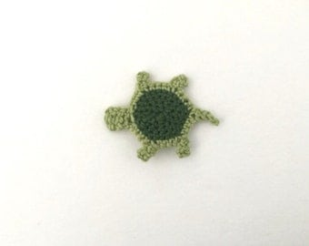 Crochet Turtle Applique | Turtle Embellishment | Turtle Motif | Sea Animal Applique