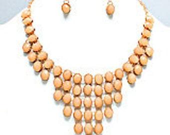 Oval Bib Necklace Set