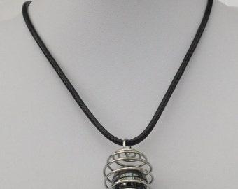 Hematite Caged Bead Necklace