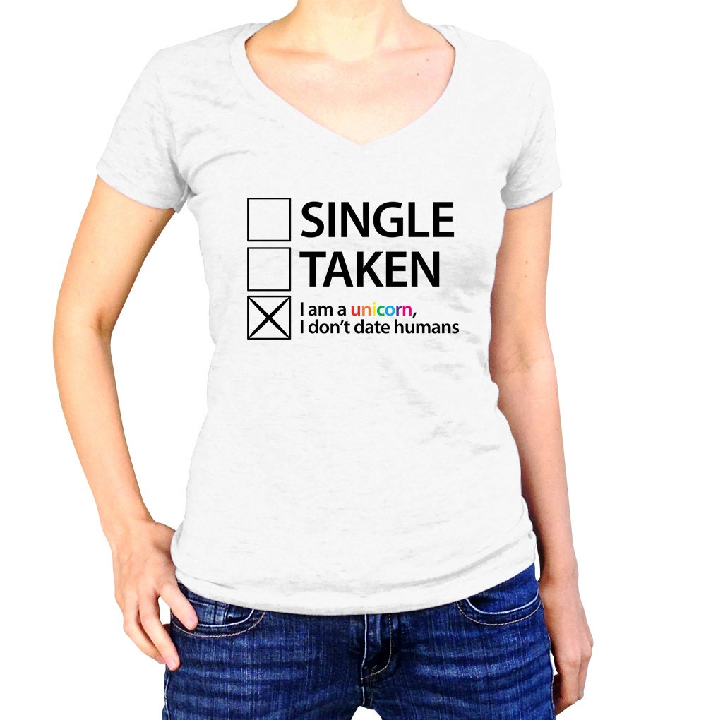 Unicorn Shirt Im Single Social Anxiety Unicorn Rainbow