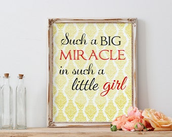Nursery Girl Print, Nursery Printable Art, Baby Girl Room Art Print, Light Yellow Wall Art, Baby Shower Gift, Little Girl Wall Decor, 8x10