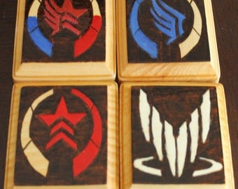 Mass Effect coaster set