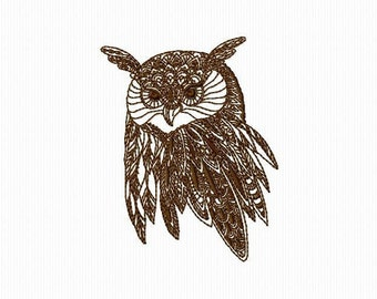 A head of OWL for machine embroidery embroidery