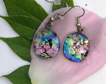 Multi Colored Glass Earrings