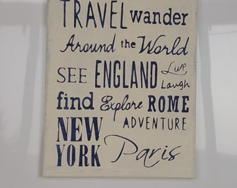 Travel Word Collage