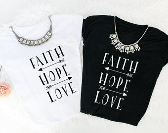 Faith Hope Love tees!