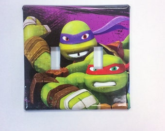 TMNT Light Switch Cover, Double Switch Plate,TMNT Boy Bedroom Decor