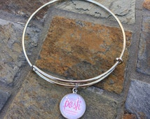 Posh Independent Consultant - A & A Inspired Adjustable Bangle Bracelet with Charm - 5 images to chose from - Sales Achievement Gift
